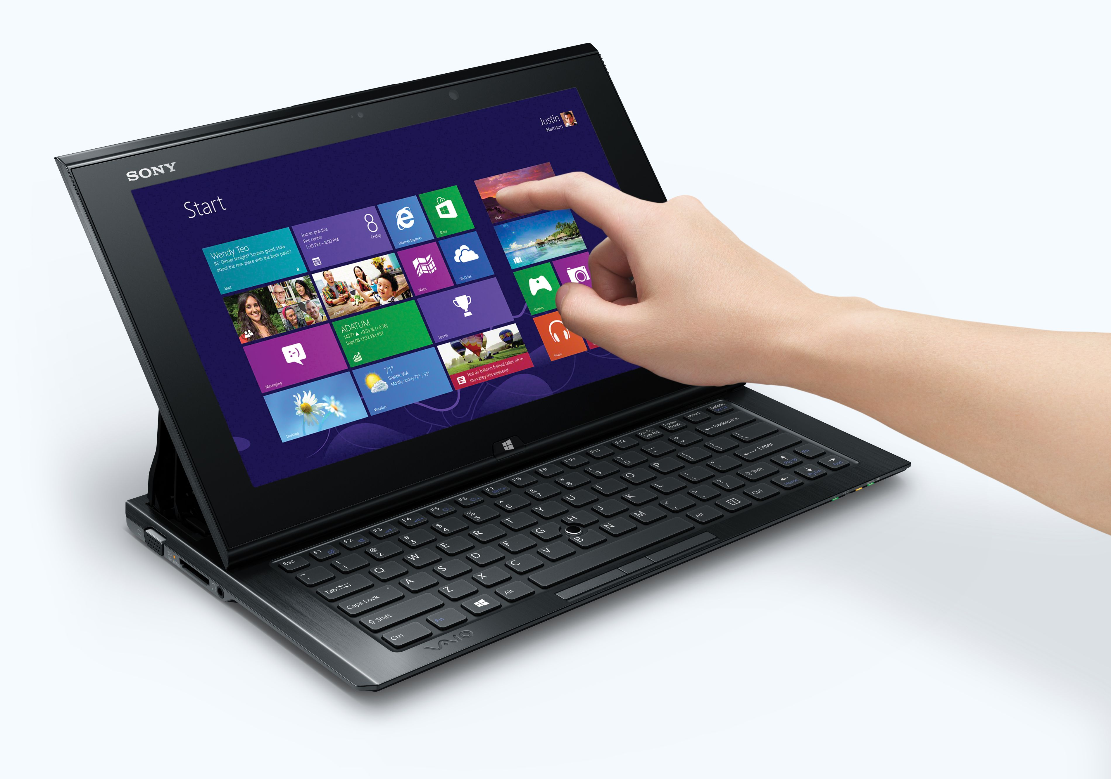 Touch, write and go with slim new VAIO™ Duo 11