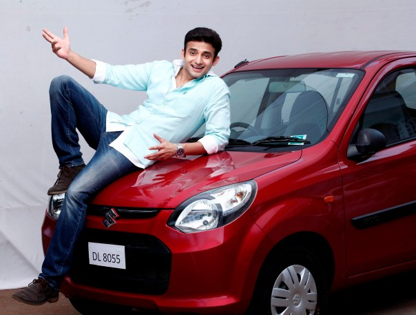 Romit Raj on the car