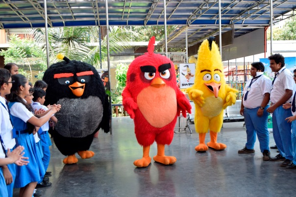 Angry Birds on sets of Baal Veer