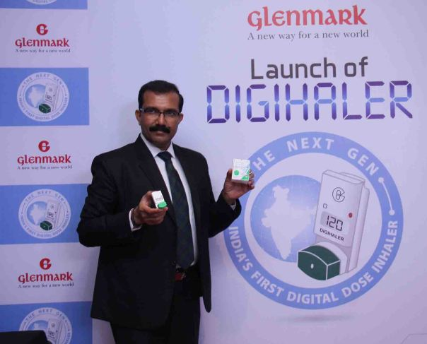 Sujesh Vasudevan at the launch of Glenmark Digihaler1