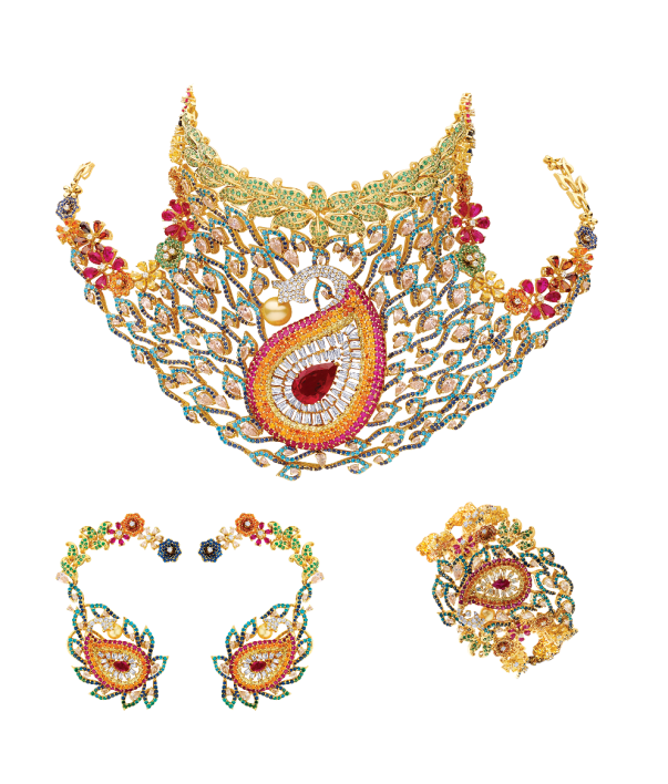 Best Colored Stone Necklace set of the year