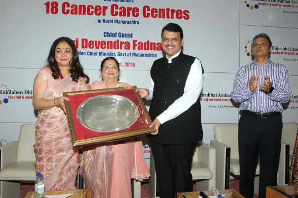 Maharashtra Chief Minister Devendra Fadnavis at the launch of Kokilaben Dhirubhai Ambani Hospitals Oncology Programme 1